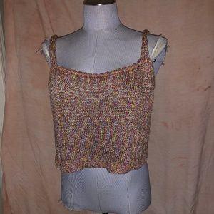 St. John rainbow marl santana knit shell top L